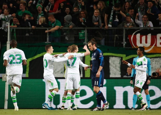 Wolfsburg sorprende y derrota 2-0 al Real Madrid