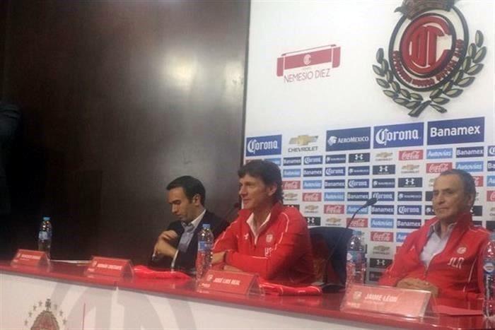 Hernán Cristante fue presentado como nuevo técnico del Toluca