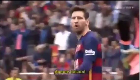 'Andate Boludo, andate ahora, huevón', Messi respondió a provocaciones (video)