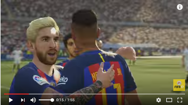 Checa el nuevo tráiler del videojuego FIFA17