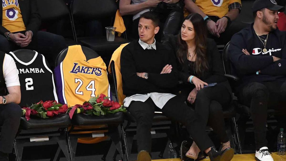'Chicharito' asistió al homenaje a Kobe Bryant