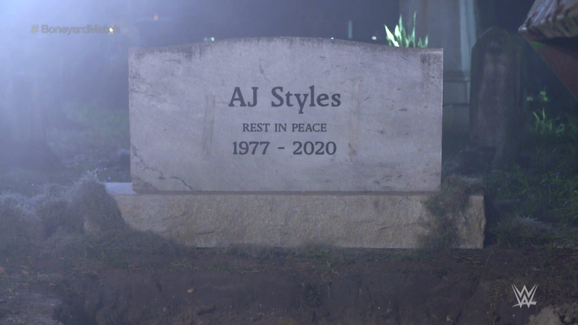 The Undertaker entierra a AJ Styles en Wrestlemania 36