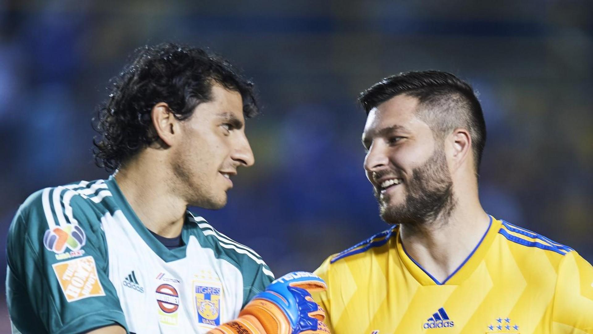 ''Estas loco'' las palabras de André Pierre Gignac a Nahuel Guzmán tras goleada en Clásico Regio de eLiga MX