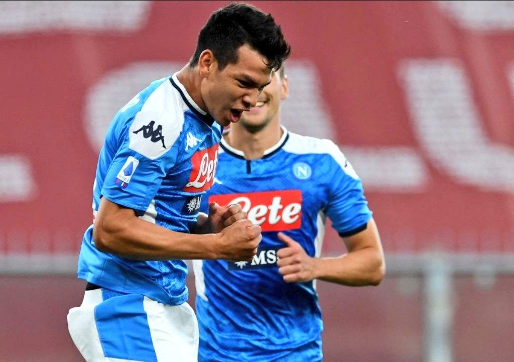 'Chucky' Lozano le da el triunfo al Napoli frente al Genoa