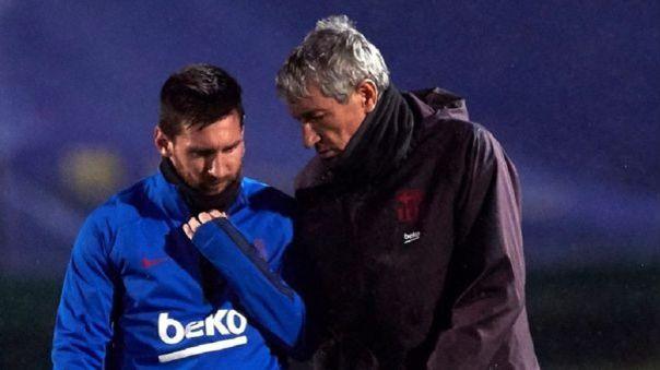 Dan a conocer detalles de pleito entre Quique Setién y Lionel Messi