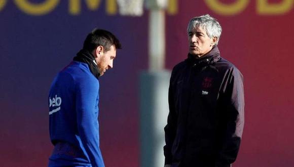Quique Setién asegura que Lionel Messi ''no es un jugador fácil de gestionar''
