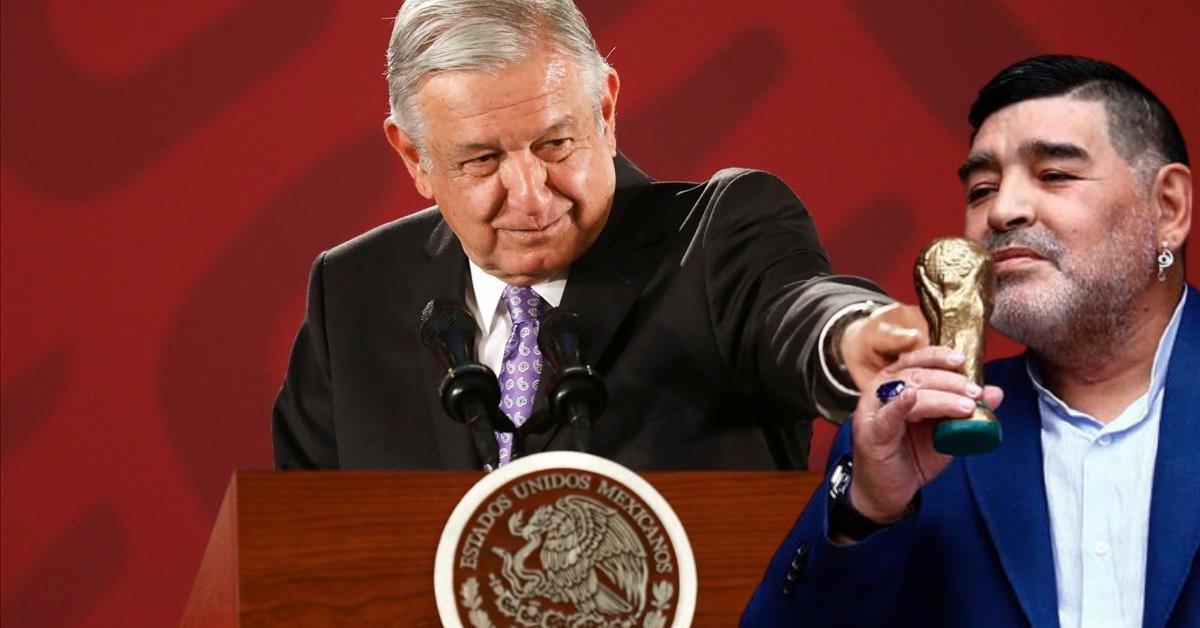 ''Por él encontré la gracia a ese deporte'' Andrés Manuel López Obrador tras fallecimiento de Diego Armando Maradona