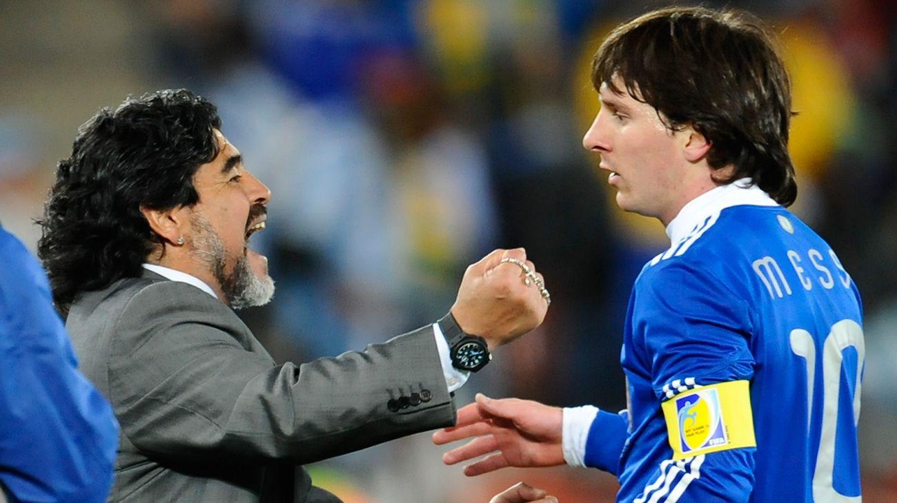 Lionel Messi despidió a Diego Armando Maradona