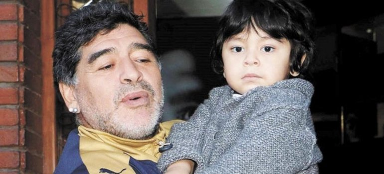 Diego Armando Maradona alcanzó a despedirse de su hijo