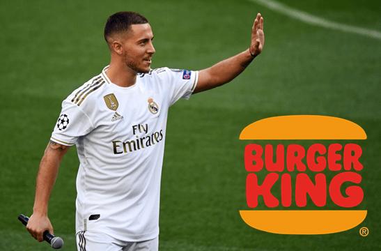 Eden Hazard recibió cruel 'troleo' de Burger King