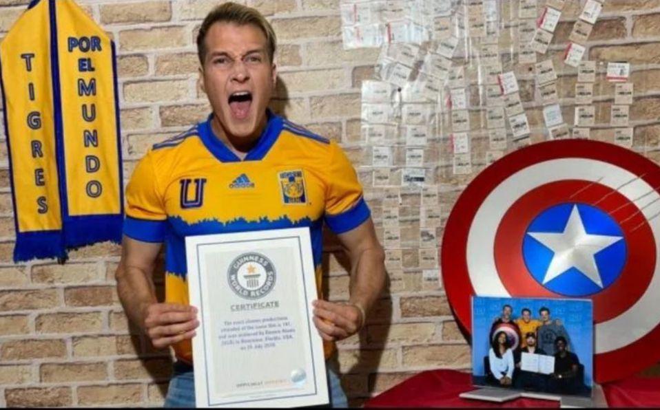 Aficionado de Tigres obtuvo récord Guinness