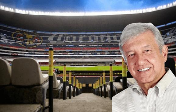 AMLO rifará palco del Estadio Azteca