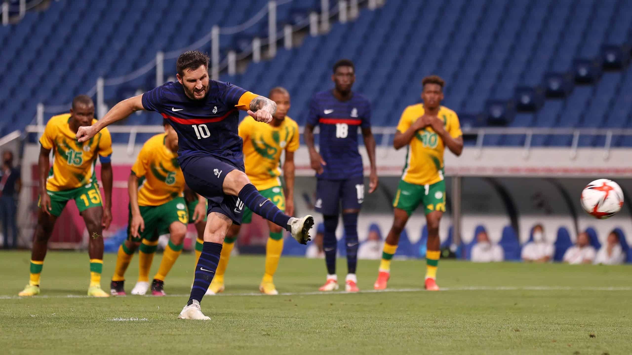 Se luce André Pierre Gignac en Juegos Olímpicos, hat trick ante Sudáfrica
