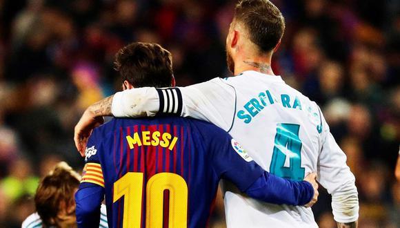 Sergio Ramos ya le dio la bienvenida a Leo Messi