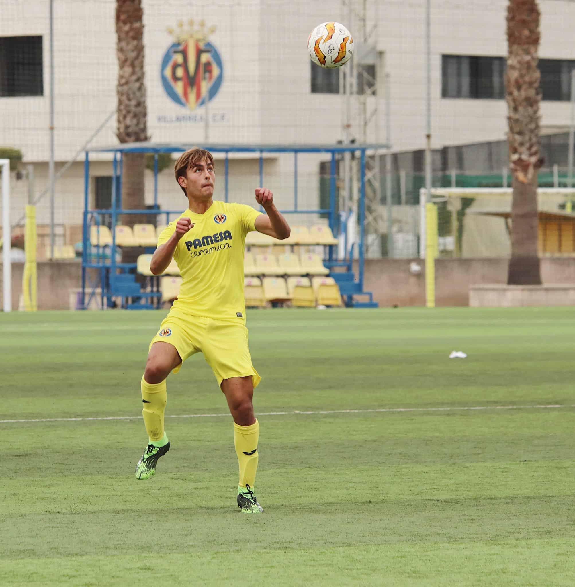 Emiliano García marca en la victoria del Villarreal en UEFA Youth League